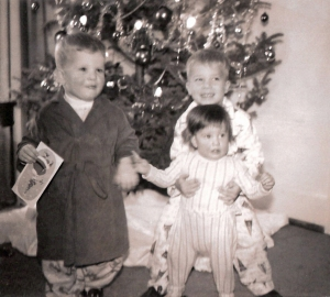 Rob, Bill, and Susan Scheide circa 1962
